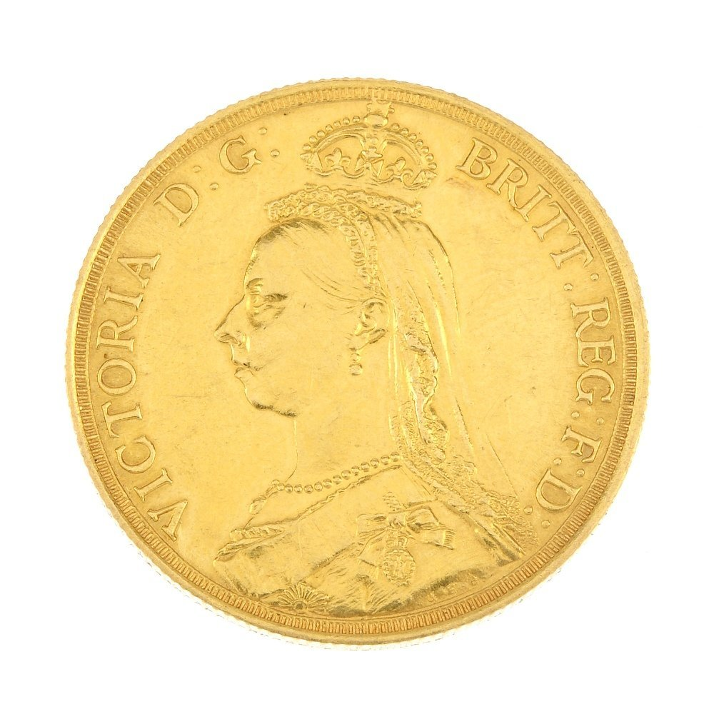 Victoria, gold Two-Pounds 1887.