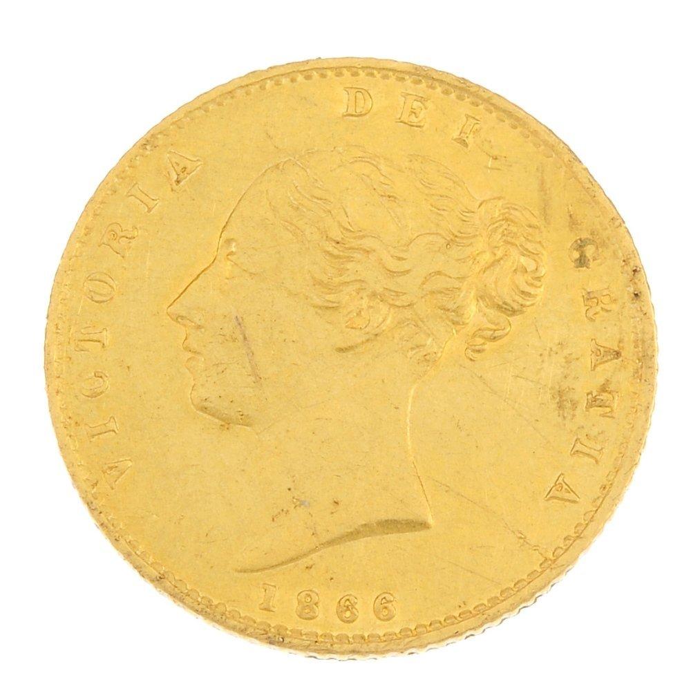 Victoria, gold Half-Sovereign 1866.