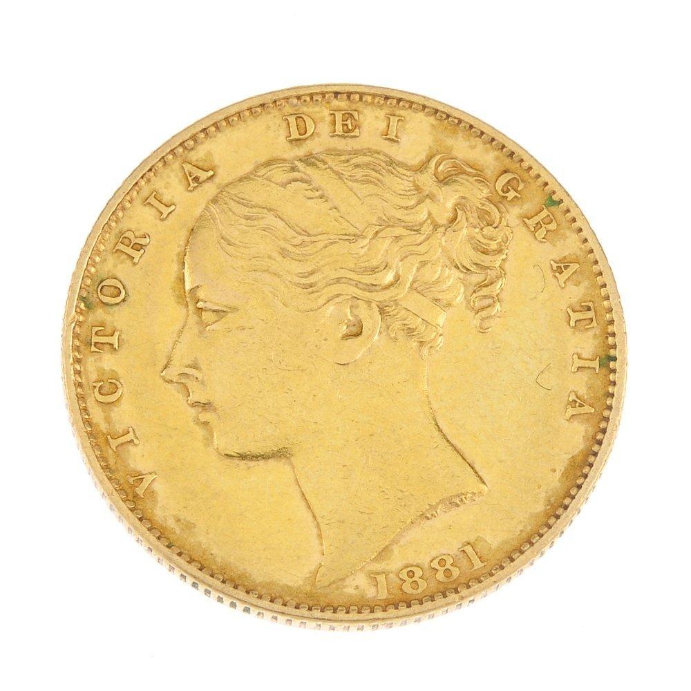 Victoria, Sovereign 1881M.