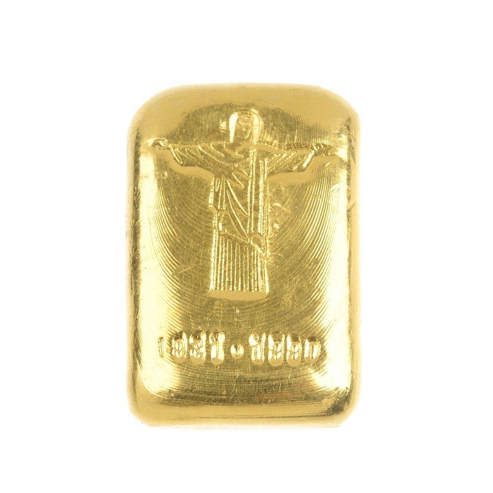 Brazil, fine gold ingot.