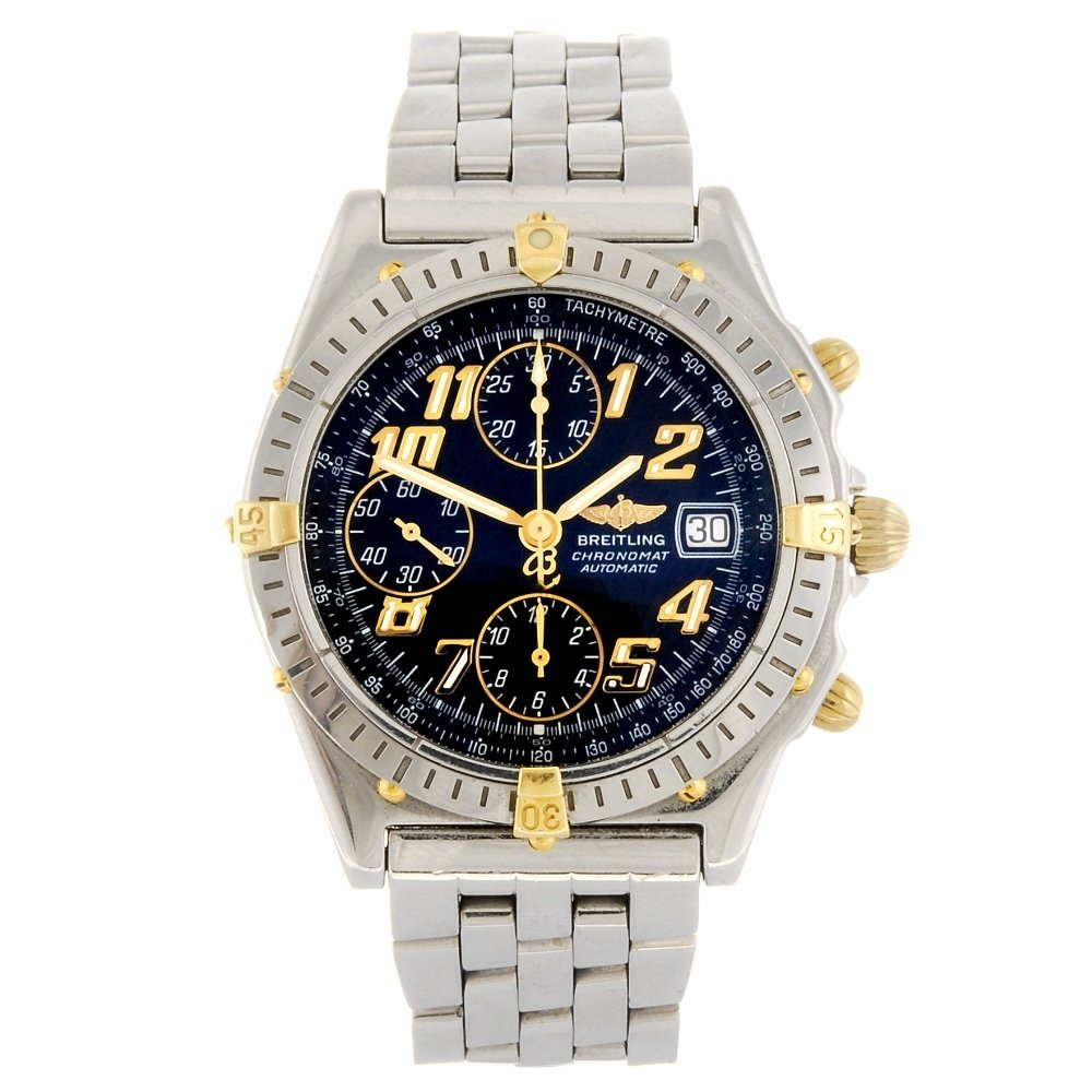 (345) A stainless steel automatic chronograph