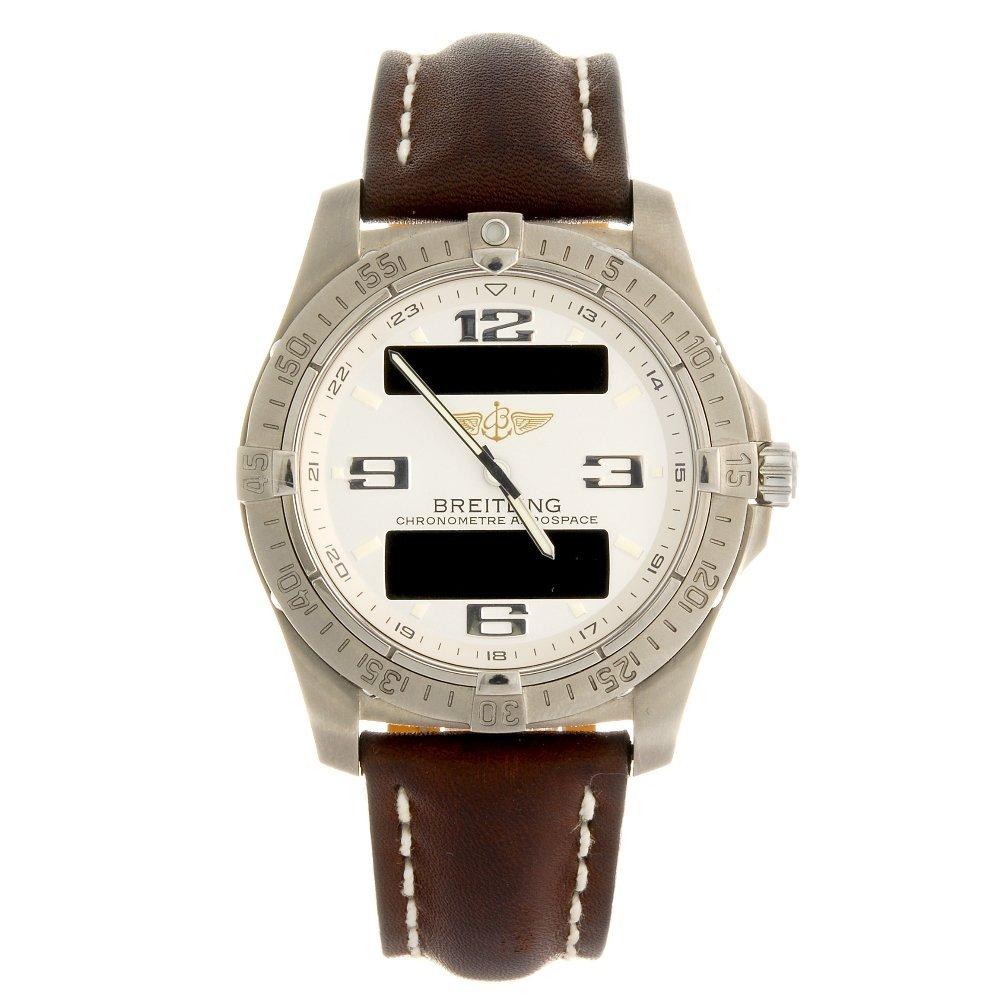 (110625) A titanium quartz gentleman's Breitling