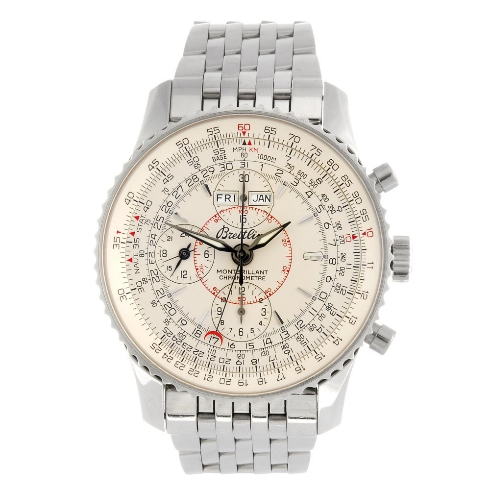 (124934) A stainless steel automatic chronograph