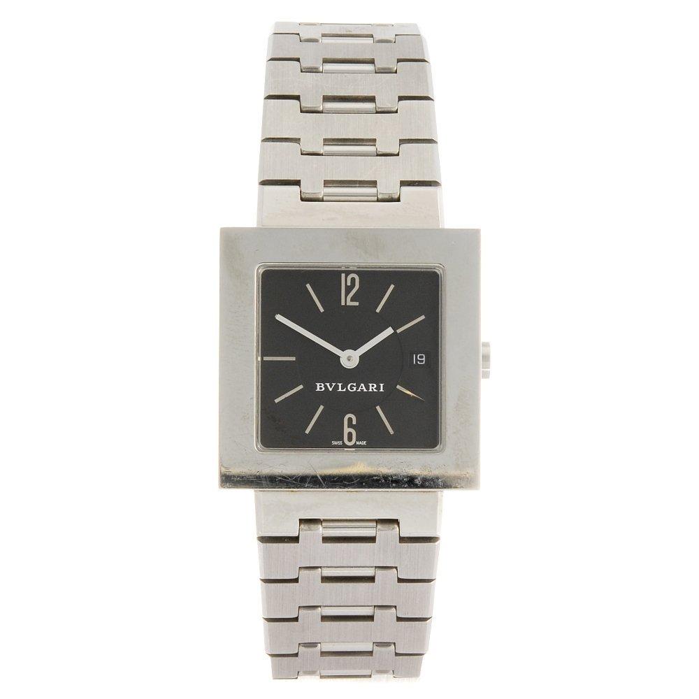 (124647) A stainless steel quartz Bulgari bracelet