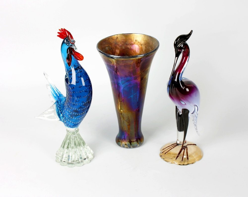 A group of assorted glassware