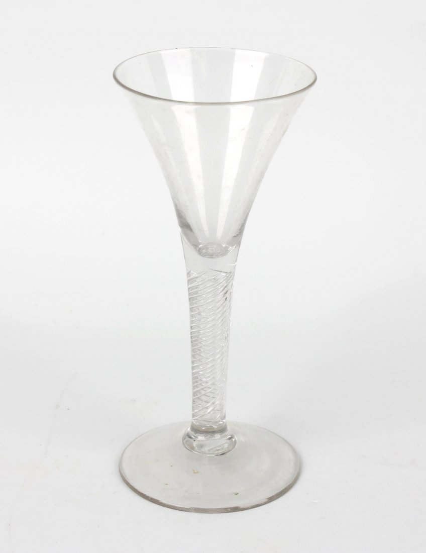 A large mid 18th century cordial glass