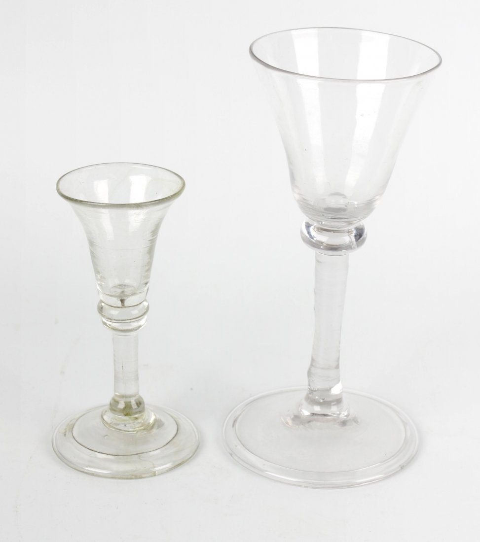 Two 18th century cordial glasses