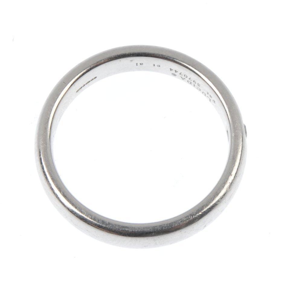 TIFFANY & CO - a platinum 'Lucida' diamond band ring. - 2