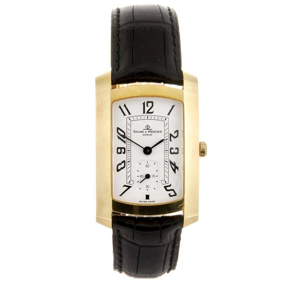 (111960) An 18k gold quartz gentleman's Baume & Mercier