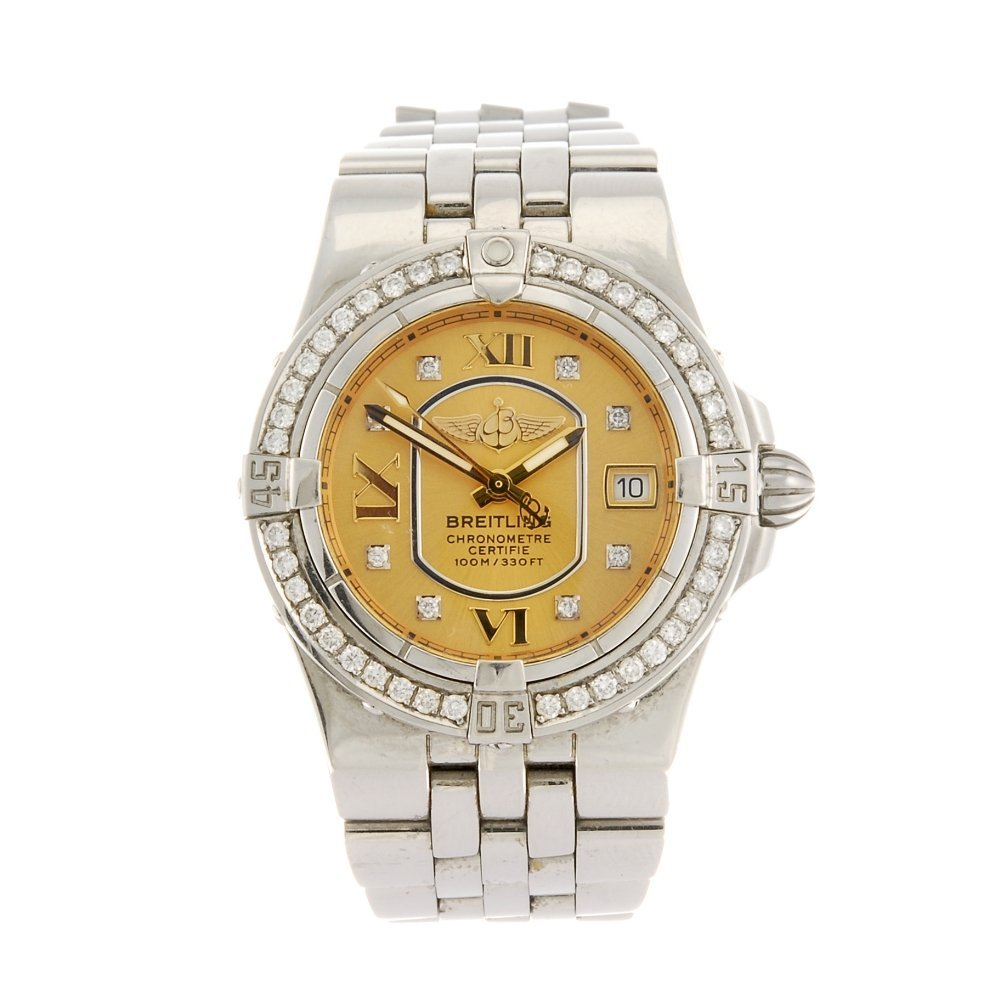 (134181292) A stainless steel quartz lady's Breitling