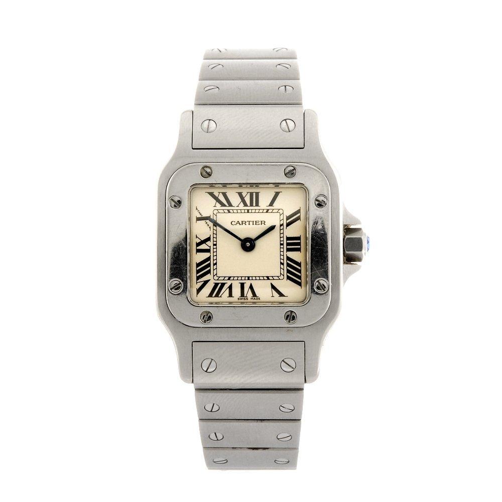 (134181273) A stainless steel quartz Cartier Santos