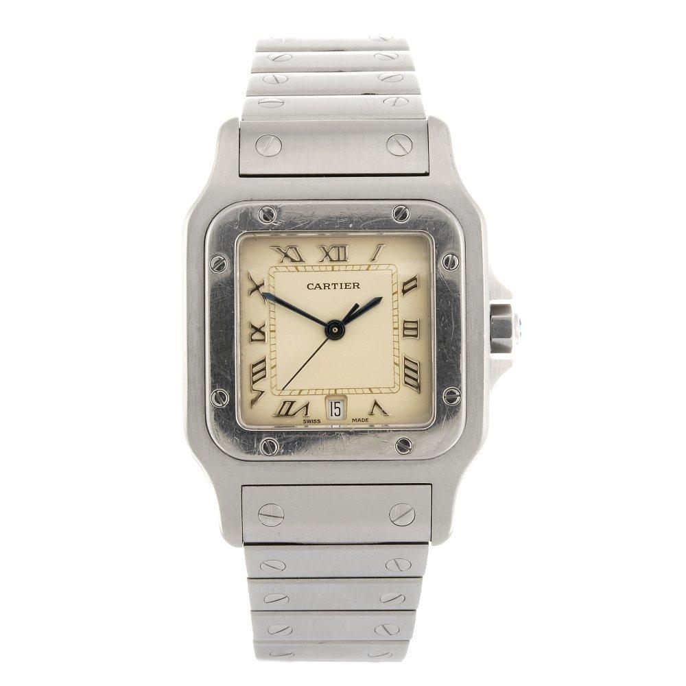 (128934172) A stainless steel quartz Cartier Santos