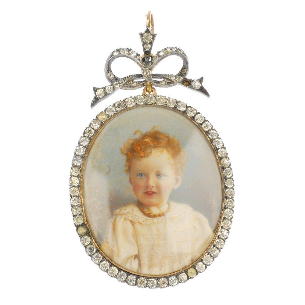 A late 19th century portrait pendant.