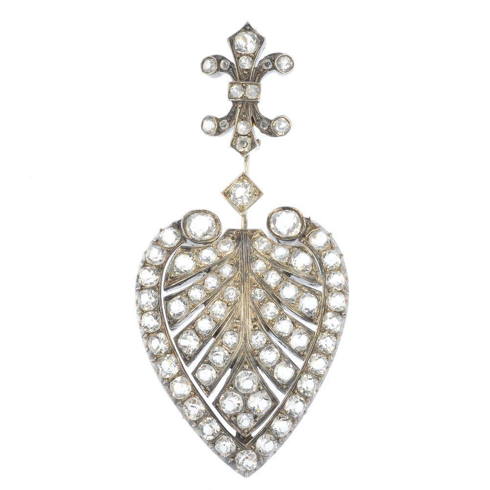 A late 19th century silver paste pendant.