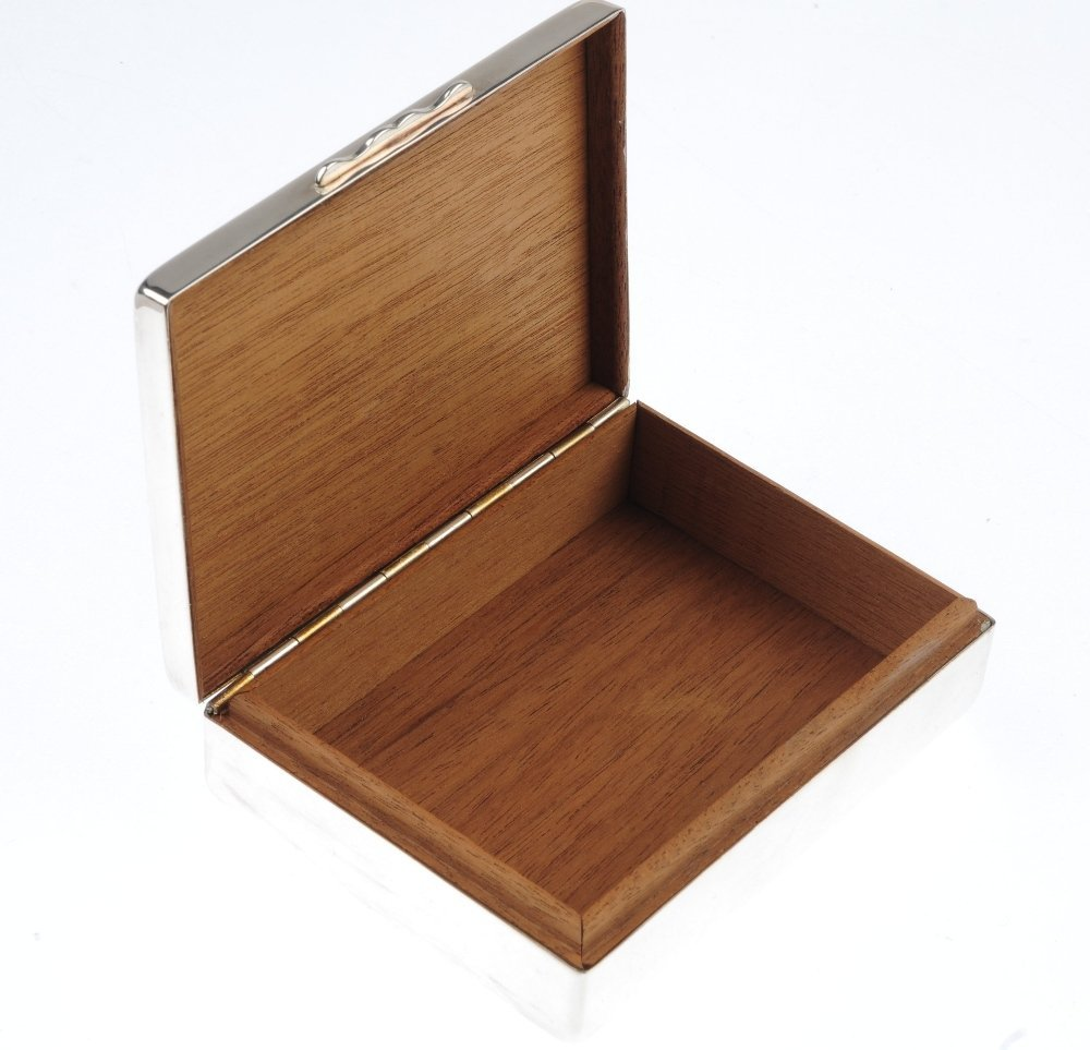 AQUASCUTUM - a silver plated cigarette box and a pair - 2