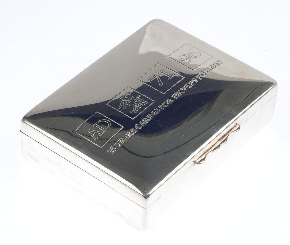 AQUASCUTUM - a silver plated cigarette box and a pair - 3
