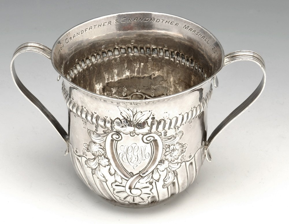An early George III silver porringer.