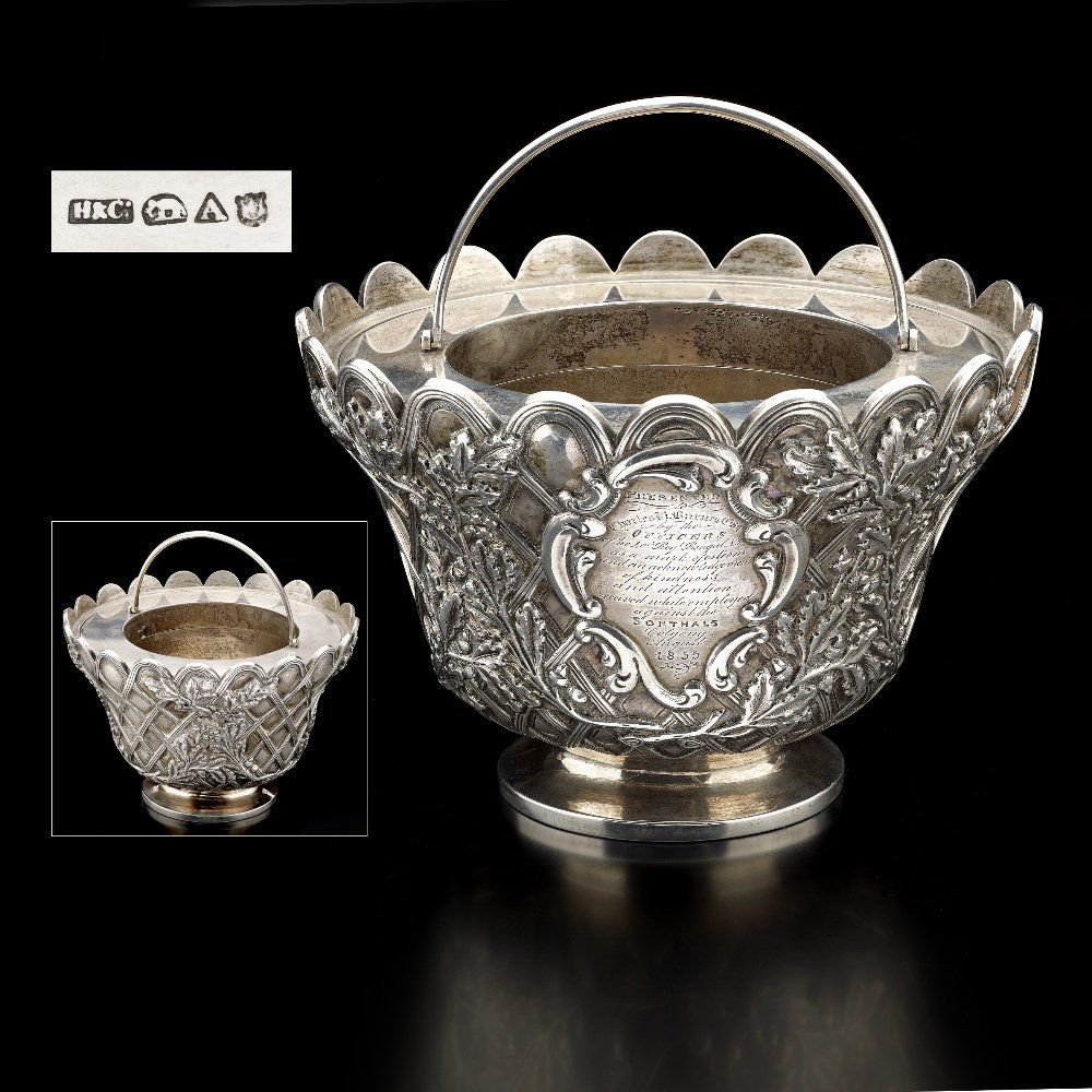 An Indian Colonial Caviar dish by Hamilton & Co,