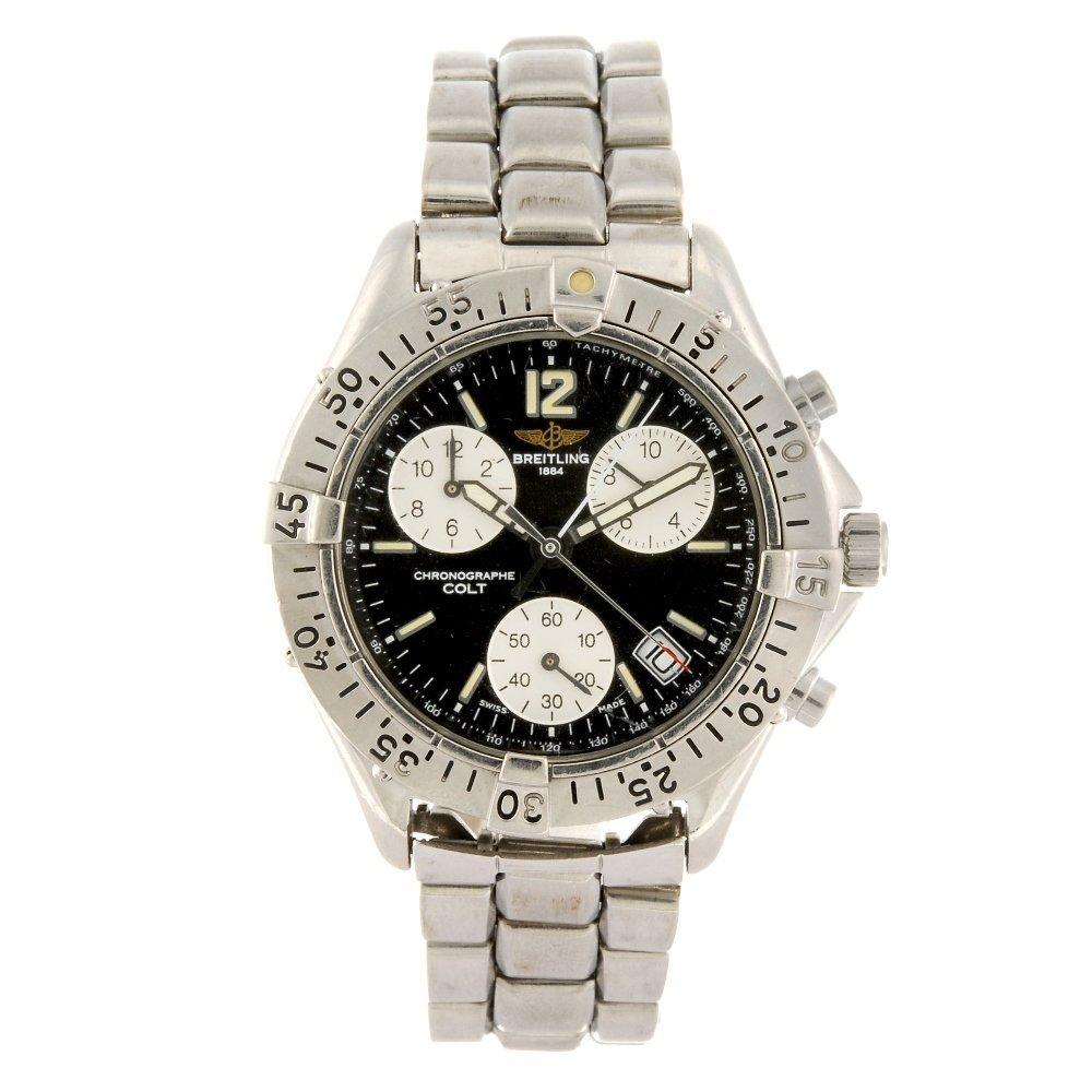 (814034664) A stainless steel quartz chronograph