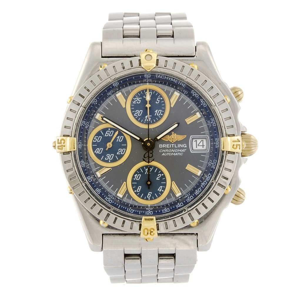 (607051411) A stainless steel automatic chronograph
