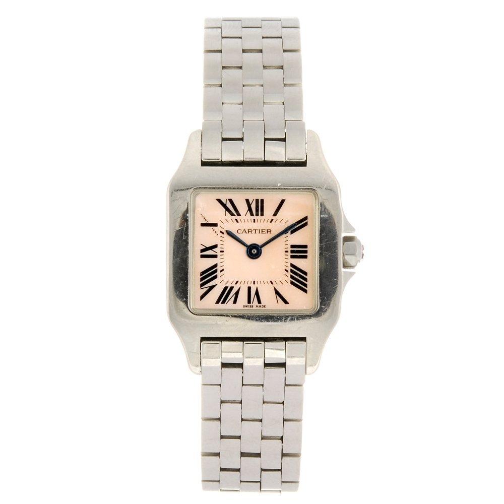 (507029067) A stainless steel quartz Cartier Santos
