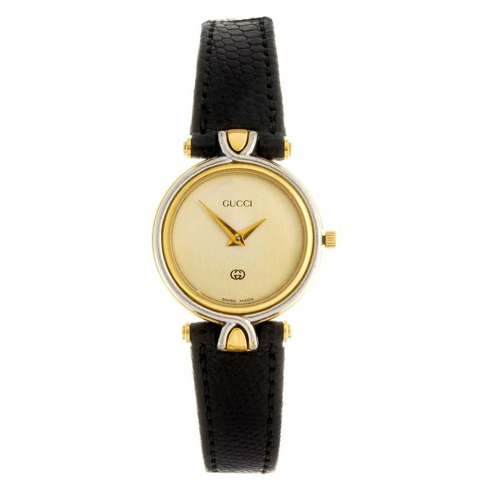 1db2674a301 A gold plated quartz lady s Gucci 4500L wrist watch