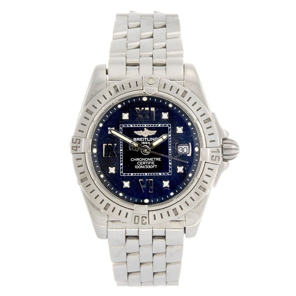 (902008996) A stainless steel quartz lady's Breitling