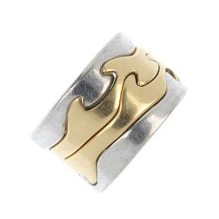 GEORG JENSEN - an 18ct gold 'fusion' ring.