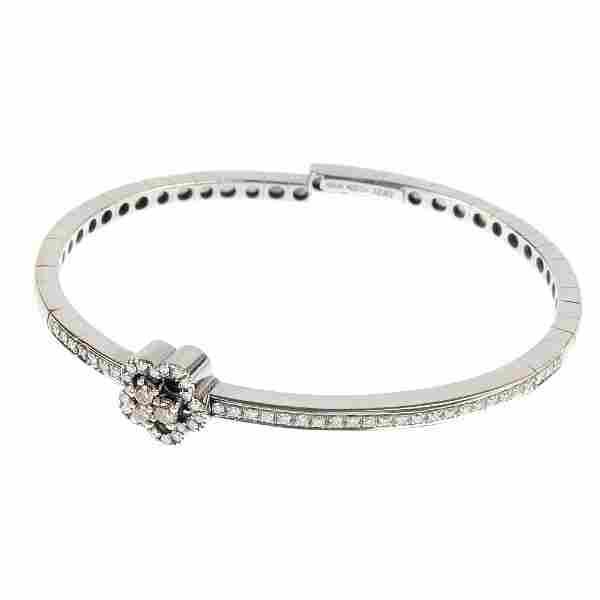 An 18ct gold diamond floral cuff.