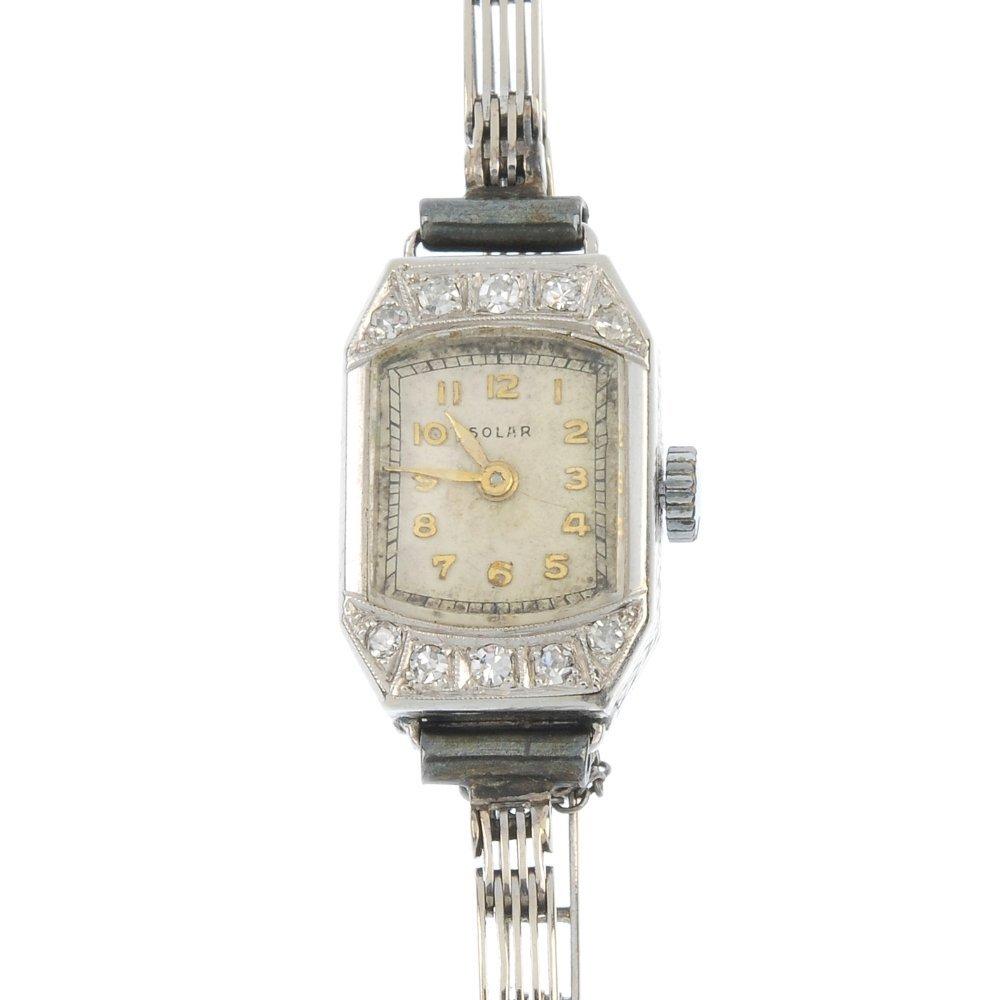A mid 20th century ladies diamond cocktail watch.