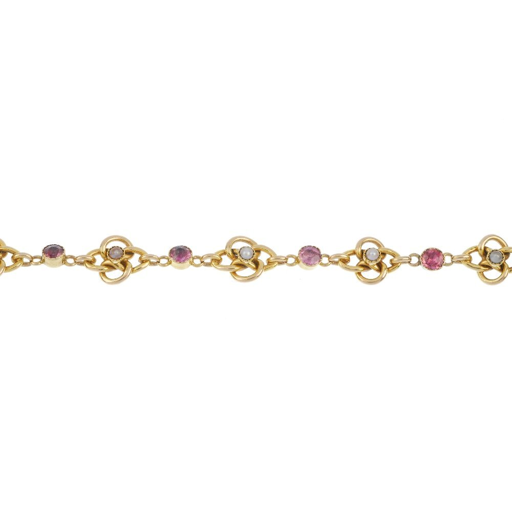 An early 20th century 15ct gold tourmaline and split