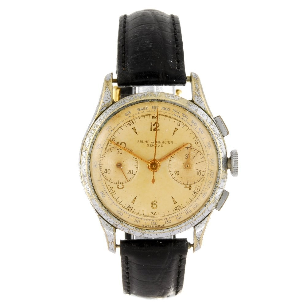 A base metal manual wind chronograph gentleman's Baume