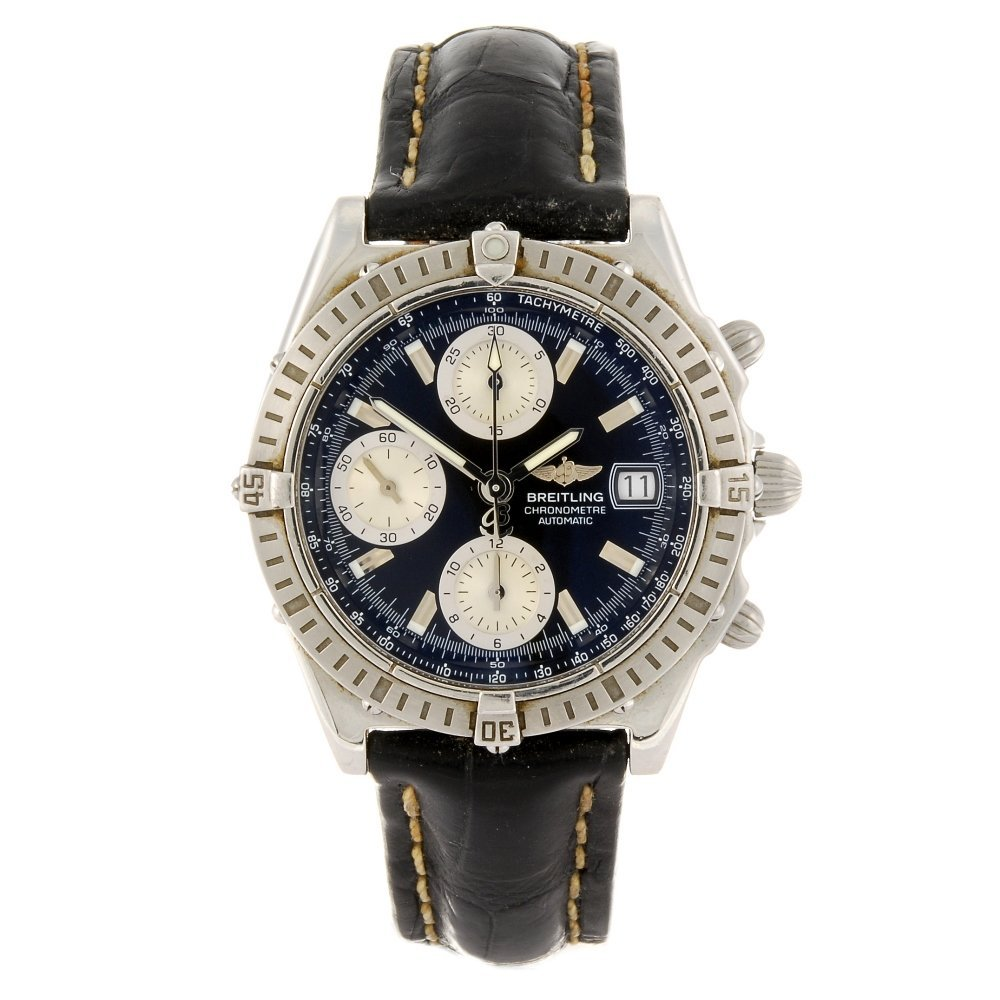 (113337) A stainless steel automatic chronograph