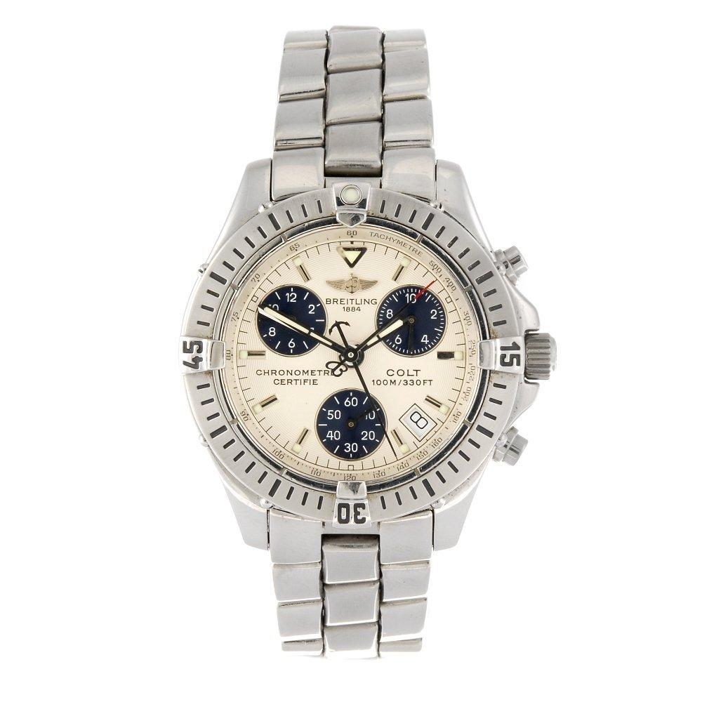 A stainless steel quartz chronograph gentleman's