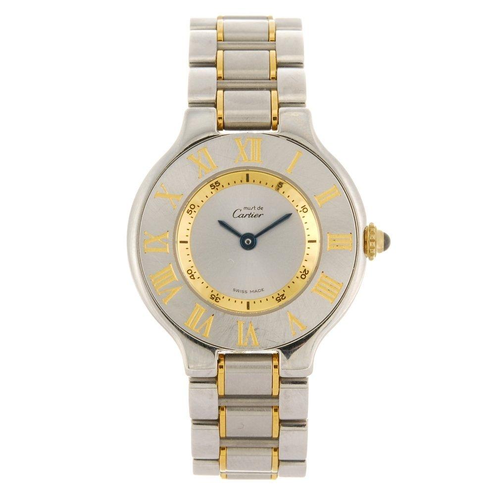 (122089907) A bi-colour quartz lady's Cartier 21