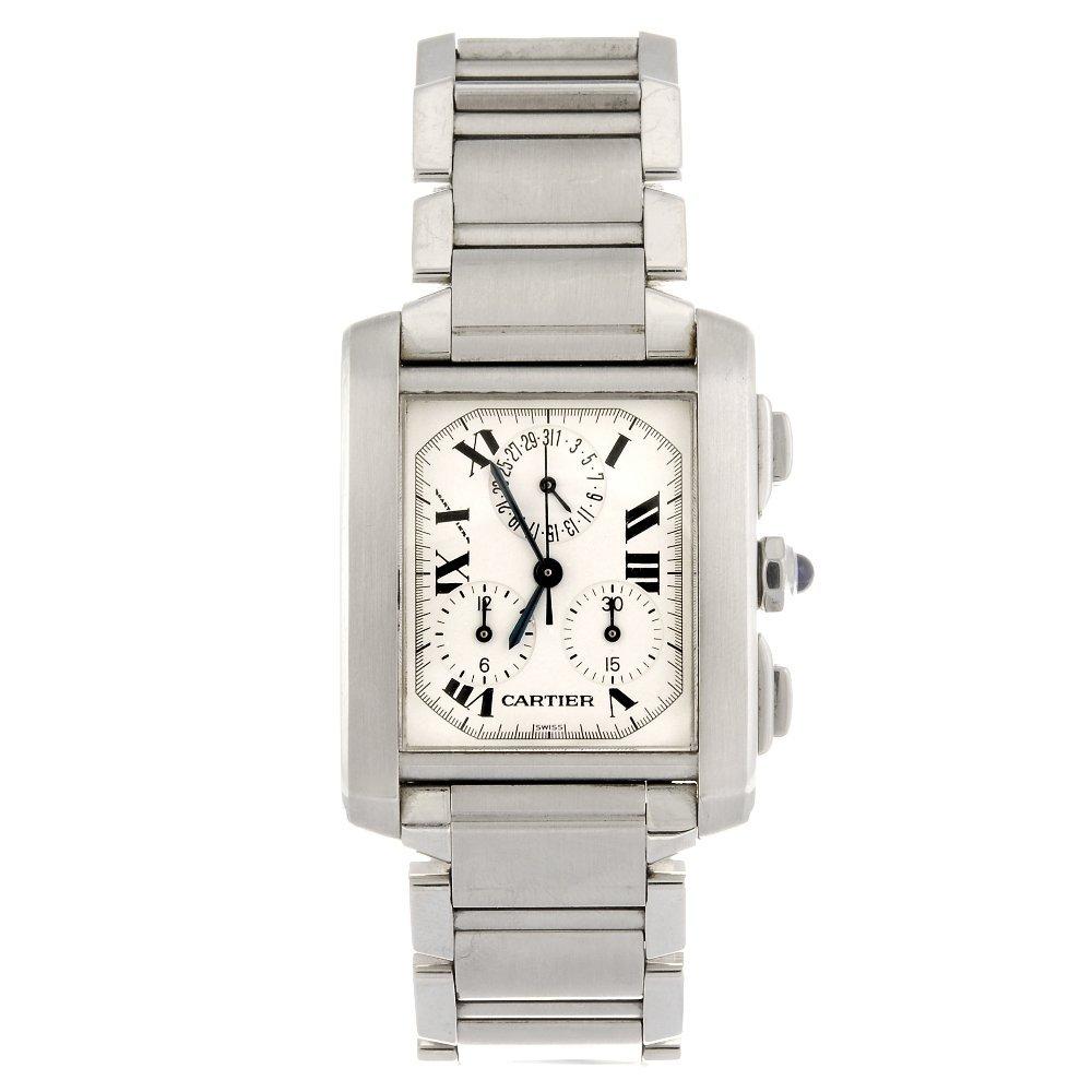 (605012313) A stainless steel quartz chronograph
