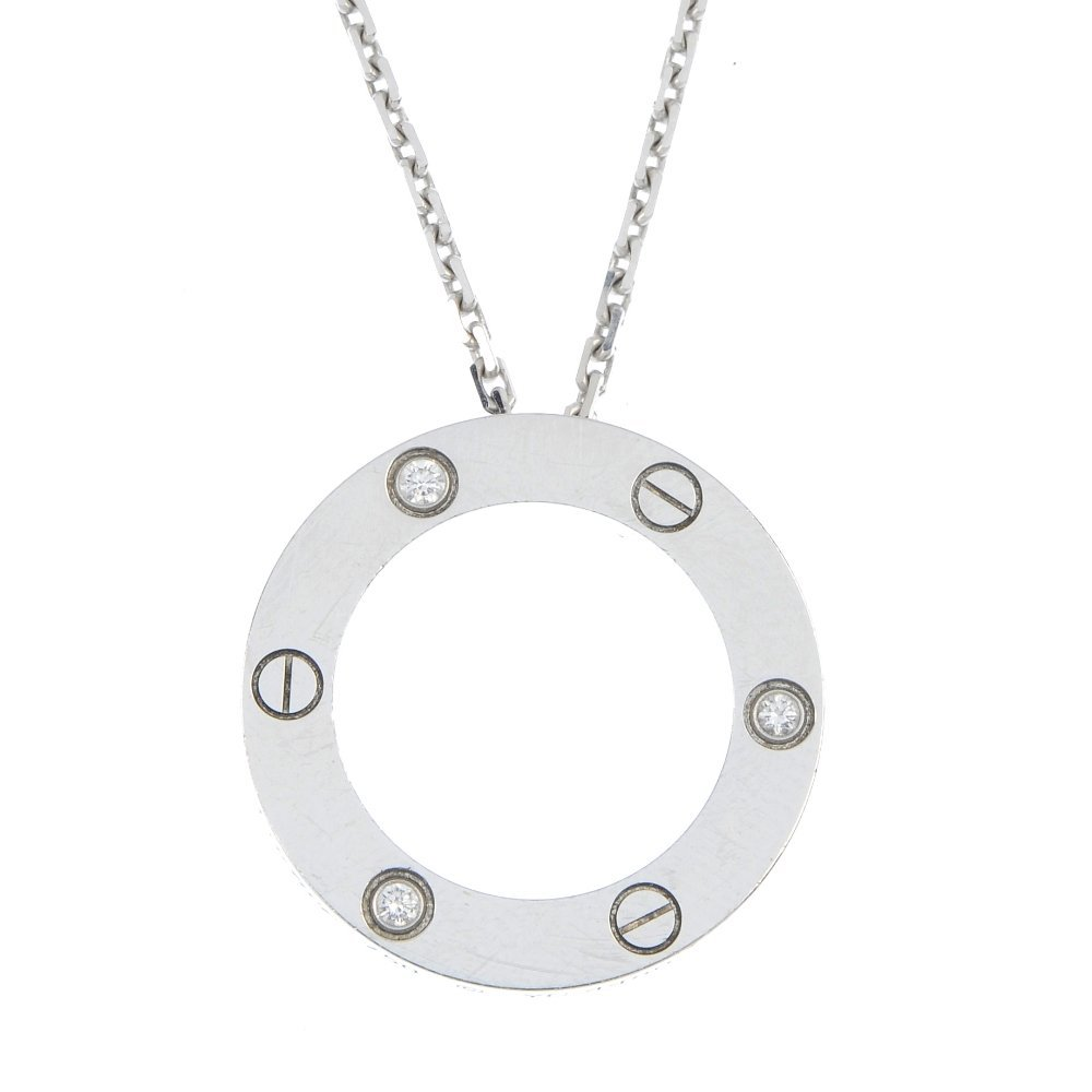 CARTIER - a diamond 'Love' pendant.