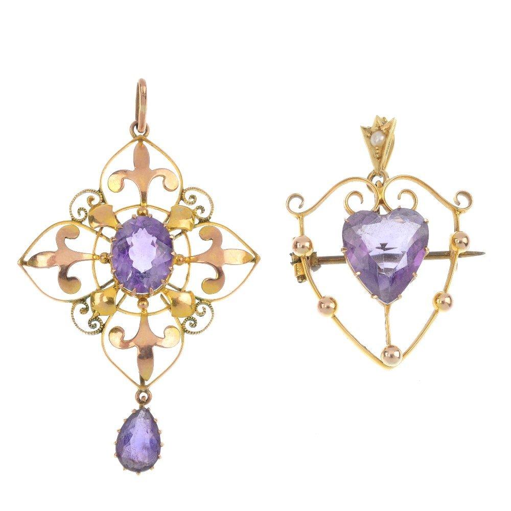 A selection of gem-set jewellery.