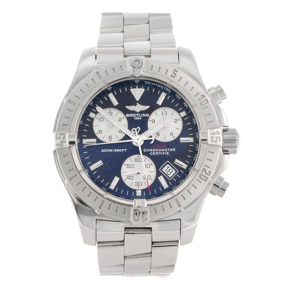 (215231878) A stainless steel quartz chronograph