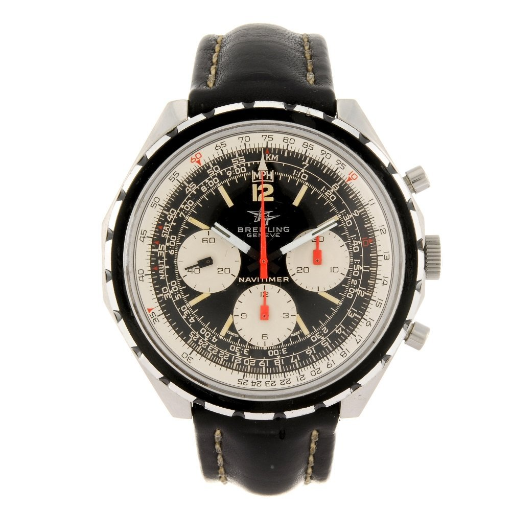 (902009112) A stainless steel manual wind chronograph