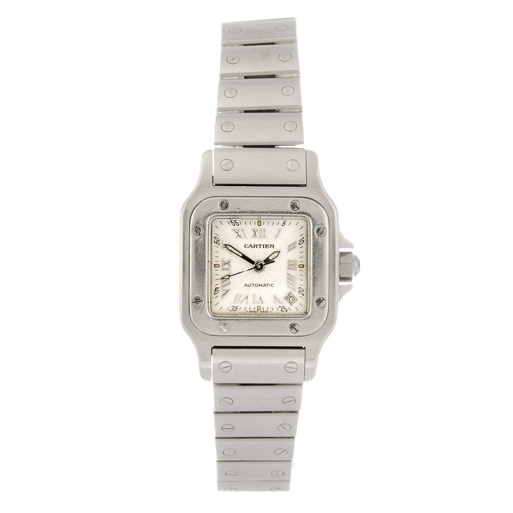 (409025231) A stainless steel automatic Cartier Santos