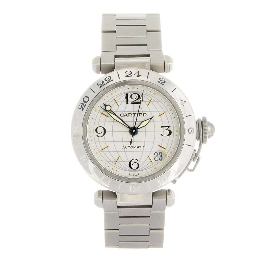 (0168271) A stainless steel automatic Cartier Pasha de