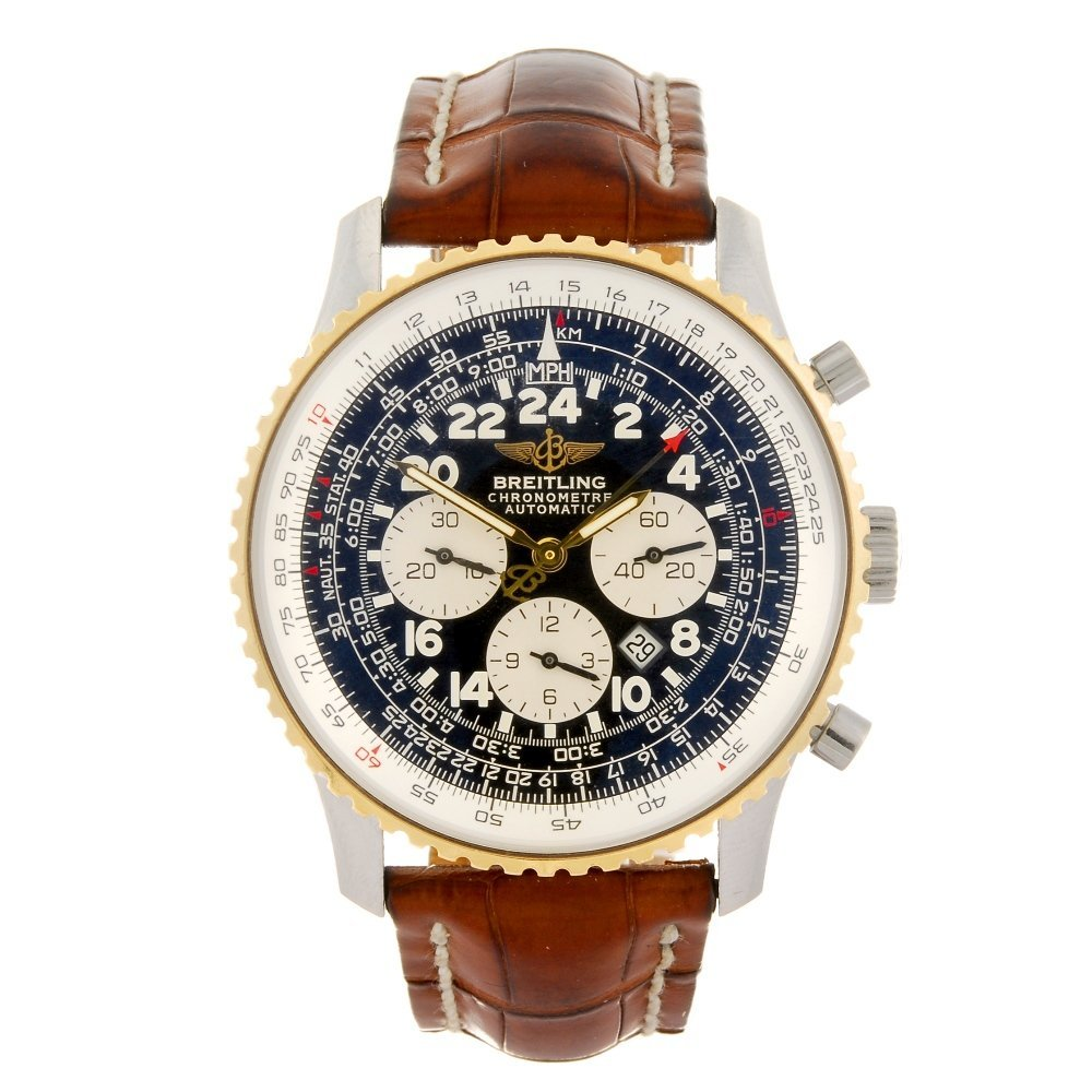 A bi-metal automatic chronograph gentleman's Breitling