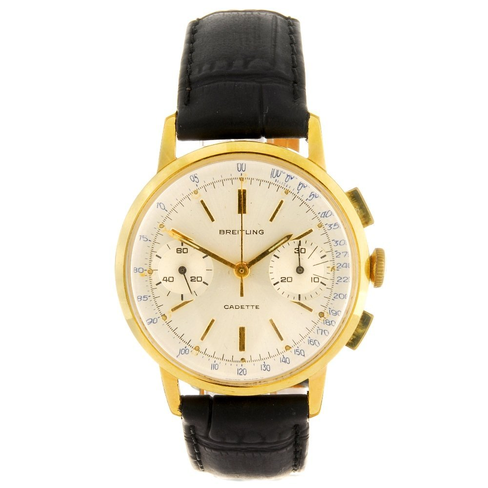 A gold plated manual wind gentleman's Breitling Cadette