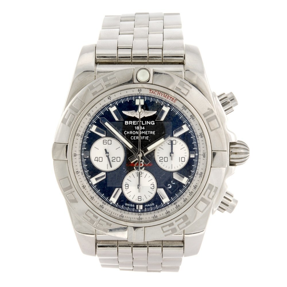 (121214) A stainless steel automatic chronograph gentle