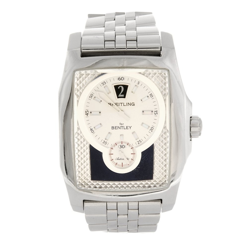 (975000140) A stainless steel automatic gentleman's Bre