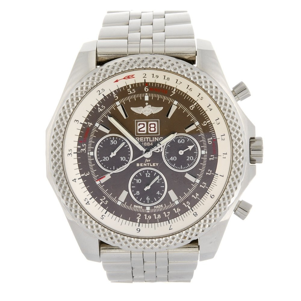(975000141) A stainless steel automatic chronograph Bre