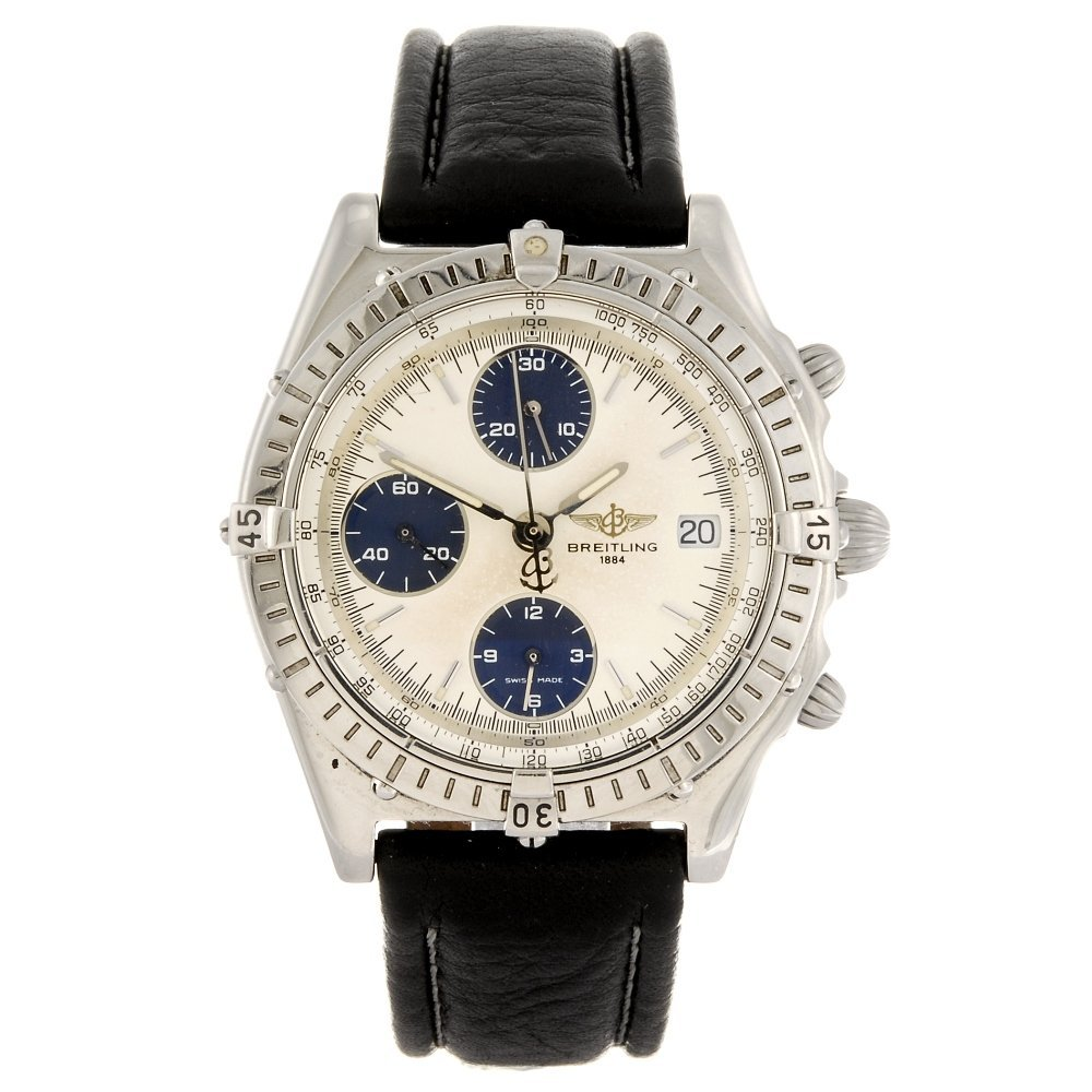 (1109019023) A stainless steel automatic chronograph ge