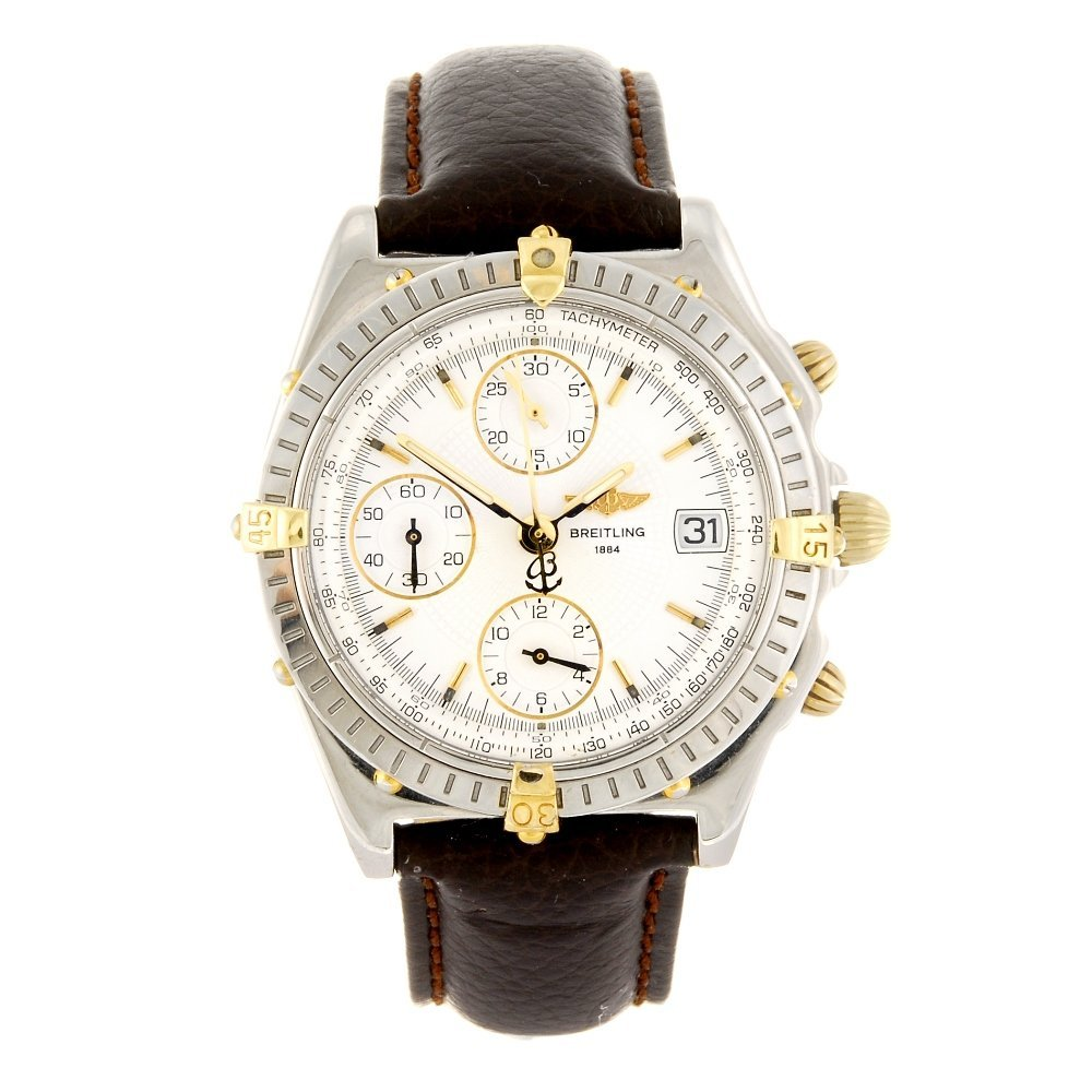 (942004532) A stainless steel automatic chronograph Bre