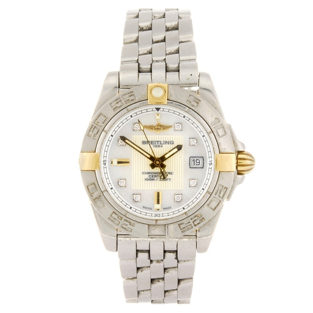 A stainless steel quartz lady's Breitling Galactic 32 b
